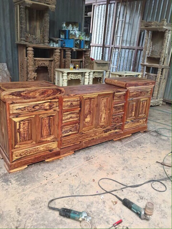 tủ tivi gỗ Cẩm Lai