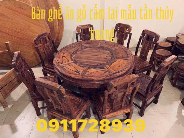 bàn ăn gỗ Cẩm Lai mẫu Tần Thủy Hoàng