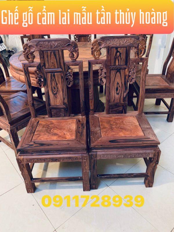ghế của bộ bàn ăn kiểu Tần Thủy Hoàng gỗ Cẩm Lai