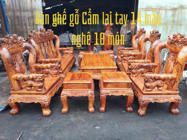 bàn ghế gỗ Cẩm Lai tay 14