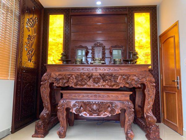 sập thờ gỗ Cẩm Lai kiểu Mẹ Con