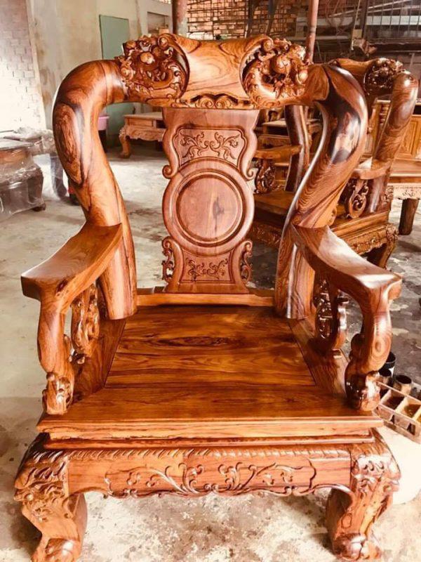 ghế con bộ bàn ghế Cẩm Lai tay 12 10 món