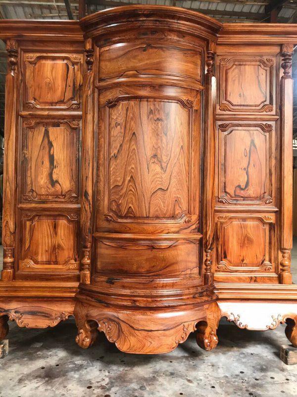 tủ thờ gỗ Cẩm Lai kiểu bụng phệ