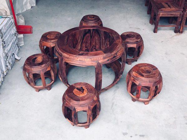 bàn ghế kiểu trống cẩm lai