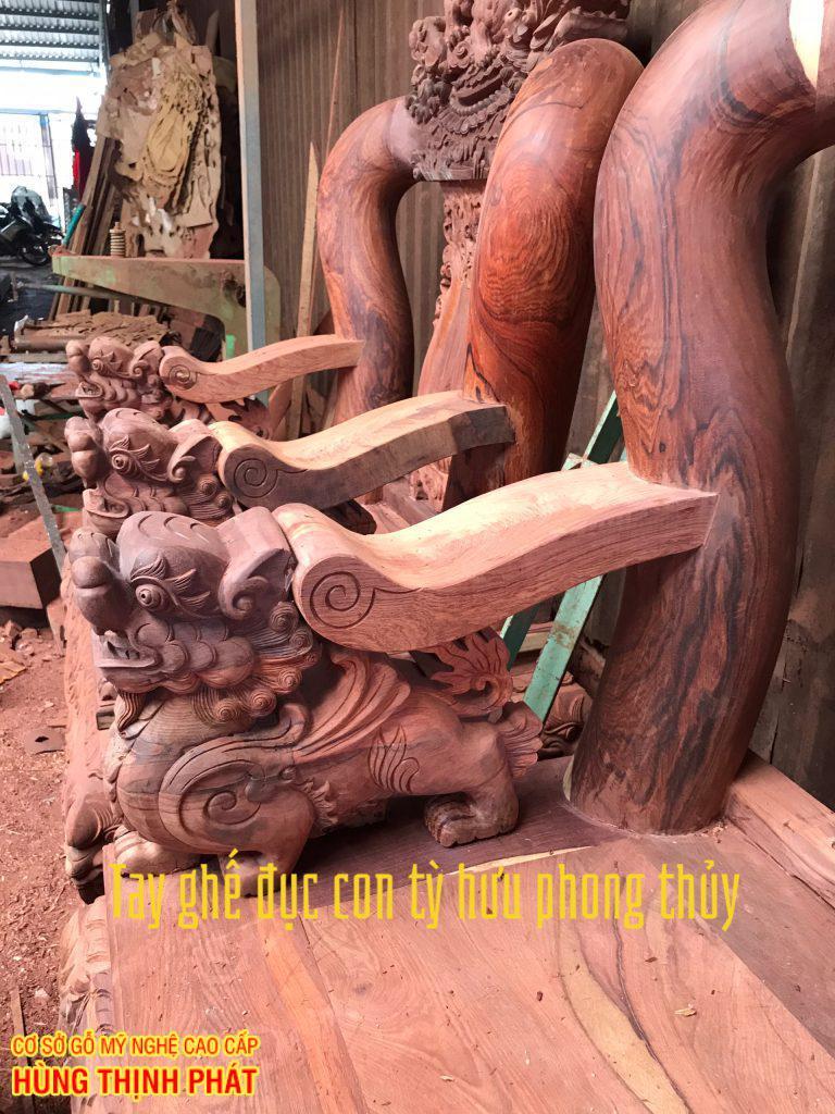 Bàn ghế gỗ Cẩm lai quy trình đục sản xuất đồ gỗ Cẩm lai cao cấp