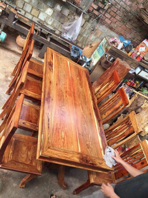bàn ăn gỗ Cẩm Lai 9 món