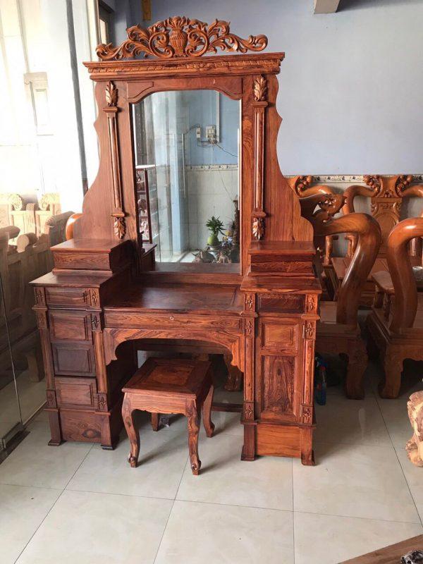 bàn trang điểm gỗ cẩm lai 1