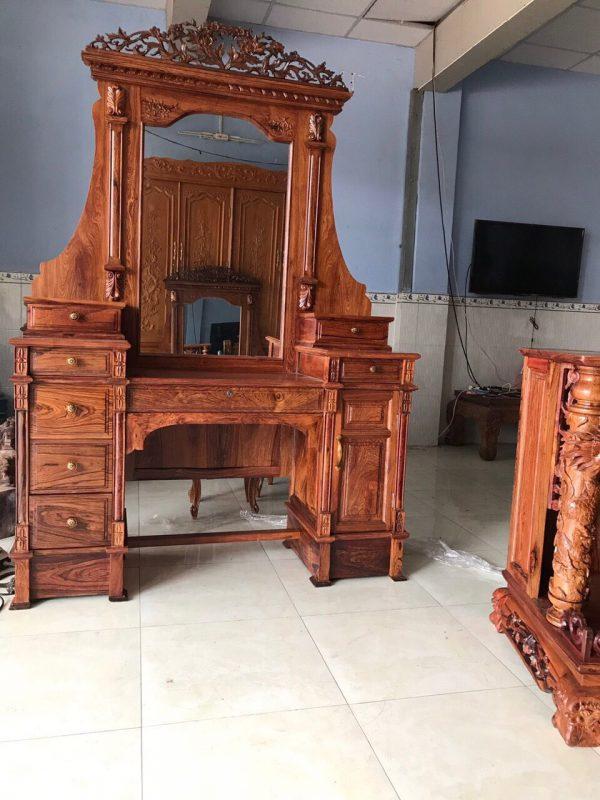 bàn trang điểm gỗ cẩm lai