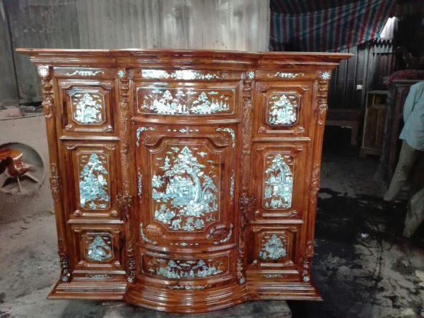 tủ thờ gỗ cẩm lai
