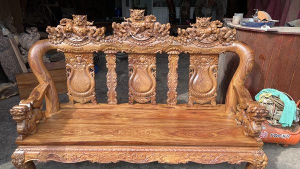 ghế dài bộ bàn ghế Cẩm Lai