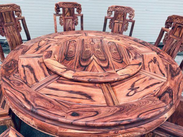 bàn ăn mặt tròn gỗ Cẩm Lai